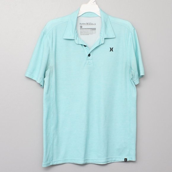 Hurley for Buckle light blue polo w/ Nike Dri fit